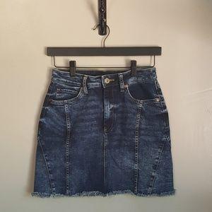 Arizona Jean Company Frayed Hem Jean Skirt